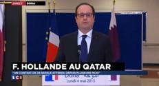 """Vente du Rafale au Qatar : """"La France est regardée comme un pays fiable"""" se félicite Hollande"""
