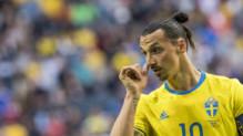 Zlatan Ibrahimovic sous le maillot de la Suède.
