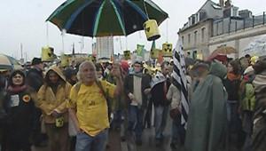 manif contre EPR à Cherbourg