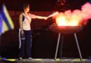 Cérémonie d'ouverture des European Maccabi Games, le 29 juillet 2015, au Parc olympique de Berlin, 79 ans après les JO nazis de 1936.