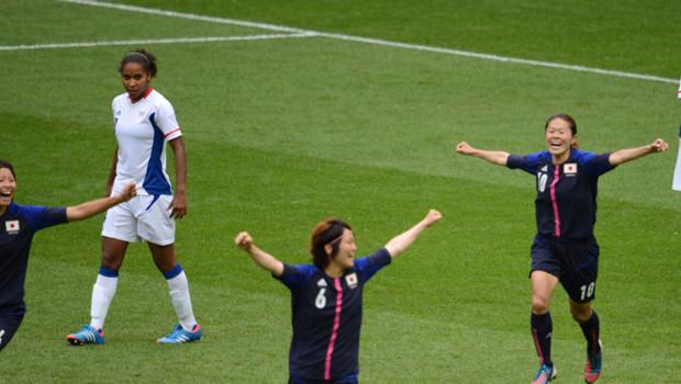 Demi-finale France-Japon en football féminin aux Jeux olympiques de Londres, le 6 août 2012.