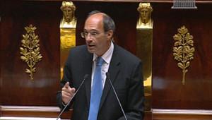 Eric Woerth défendant la réforme des retraites à l'Assemblée, le 7 septembre 2010