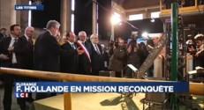 Hollande arrive à Uckange