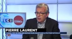 """Pierre Laurent sur les départementales : le gouvernement """"responsable"""" de l'absentéisme"""