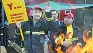pompiers anglais grève nov 2002
