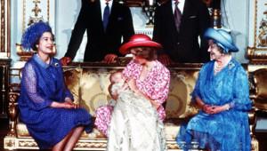 Portrait royal lors du baptême du Prince William, le 4 août 1982.