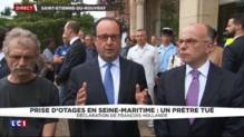 """Prêtre égorgé dans une église : """"J'ai une pensée pour tous les catholiques de France"""", affirme Hollande"""