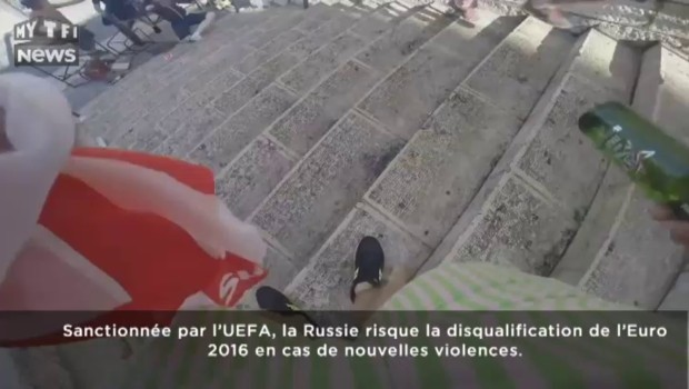 Des hooligans russes se filment en plein déchaînement de violence à Marseille