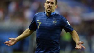Franck Ribéry après son but face à la Finlande le 15 octobre 2013