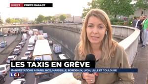 Grève des taxis : à Paris, des pierres lancées sur les non-grévistes et des pneus brûlés