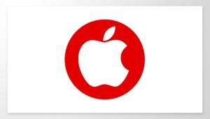 Le logo d'Apple sur le drapeau japonais