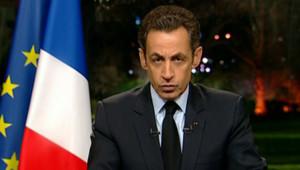 Nicolas Sarkozy à la TV au soir du sommet social