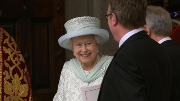 La reine Elizabeth II à la messe donnée en son honneur pour son jubilé de diamant à la Cathédrale Saint-Paul de Londres. Le 5.06.2012