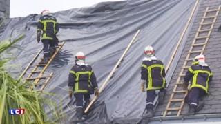 Orage de grêle à Saint-Nazaire : toitures arrachées, vitres brisées... l'heure est au nettoyage