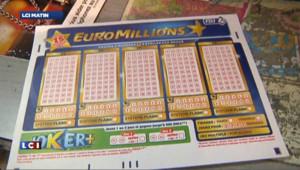 Un bulletin d'EuroMillions, la loterie européenne.