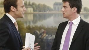 Emmanuel Macron et Manuel Valls.