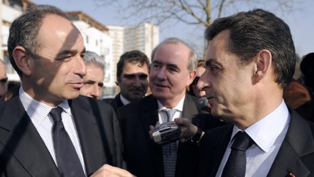Jean-François Copé et François Fillon à Meaux le 16 mars 2012