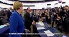 Merkel et Hollande devant le Parlement européen : l'unité coûte que coûte