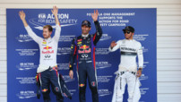 Podium Grand Prix Japon F1 2013 Vettel Webber Hamilton
