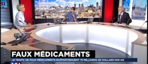 """Santé : """"Pour 1.000 euros investis, le trafic de faux médicaments rapporte jusqu'à 450.000 dollars"""""""