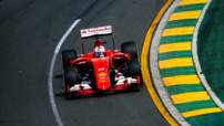 Sebastian Vettel au volant de sa Ferrari à Melbourne