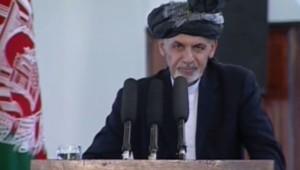 Afghanistan : Ashraf Ghani lors de son investiture comme président, 29/9/14