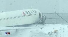 New York : un avion de ligne fait une sortie de piste, quelques blessés légers