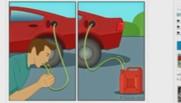 siphonner Google pénurie essence recherche