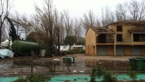 Dégâts à Serignan après le passage d'une mini-tornade, 28/11/14