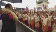 François Hollande en visite à Wallis-et-Futuna