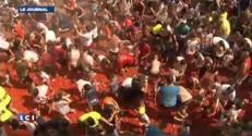 Bataille de tomates géante à Bunol, en Espagne