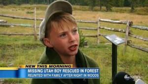 Garçon forêt USA