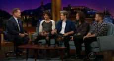 Les One Direction au Late Late Show le 14 mai 2015.