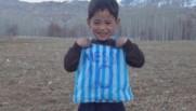 murtaza afghan de cinq ans fan de messi