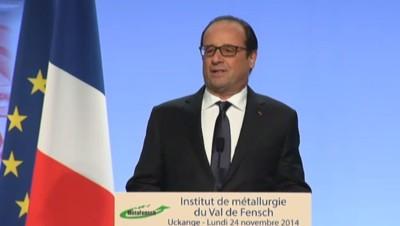 François Hollande à Uckange, 24/11/14