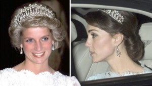 Kate Middleton et Lady Diana sur le site du Daily Express.