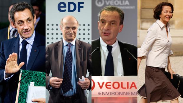 Pour succéder, à Pierre Gadonneix (2), Nicolas Sarkozy (1) hésiterait notamment entre Henri Proglio (3) et Anne-Marie Idrac (4)