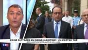 Prêtre égorgé en Seine-Maritime : Hollande appelle à l'unité