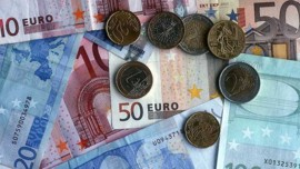 euro billet argent piece