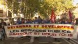 Petite mobilisation contre la privatisation de GDF