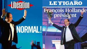 La une du Figaro et de Libération.