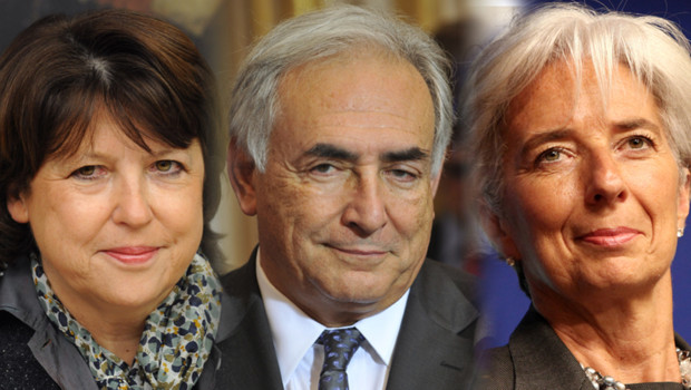Martine Aubry DSK Christine Lagarde