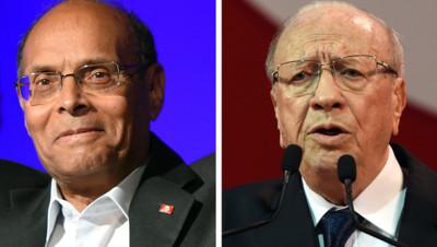Photo-montage AFP : Moncef Marzouki (à gauche) / Béji Caïd Essebsi (à droite)