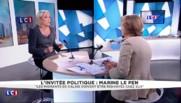 """Marine Le Pen : """"Nicolas Sarkozy, c'est Barbapapa, il change de forme très régulièrement"""""""