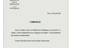 communiqué Sarkozy malaise
