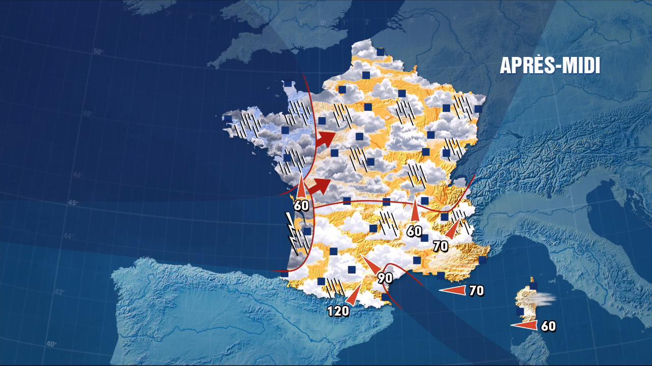 La m t o du 04 mai 2015 le journal de 13h mytf1news - Meteo vincennes heure par heure ...