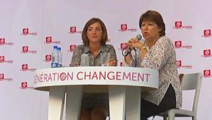 Martine Aubry à l'université d'été de La Rochelle (27 août 2010)
