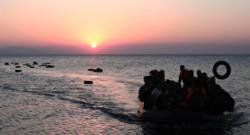 Un bateau de migrants au large de la Grèce