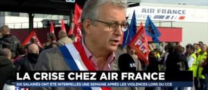 Air France : les syndicats manifestent à Roissy pour soutenir les salariés interpellés