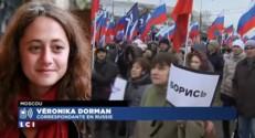 """Moscou : """"Une marche de deuil, triste et sobre"""""""